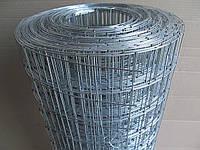 Сварная оцинкованная сетка для клеток. Ячейка: 50х50мм., Проволока: 1,6мм, Ширина: 1м.