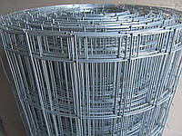 Сварная оцинкованная сетка для забора. Ячейка: 100х50мм., Ø 1,8мм, Ширина: 1,5м.