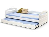 Кровать детская HALMAR NATALIE белая с двумя спальными местами