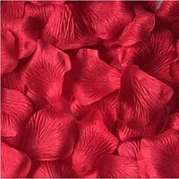 Лепестки роз искусственные 2 упаковки 48 шт темно-красные