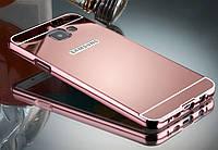 Металлический зеркальный бампер для Samsung Galaxy A3 A310 2016