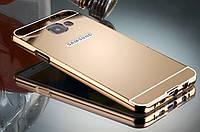 Металлический зеркальный бампер для Samsung Galaxy A3 A310 2016, фото 1
