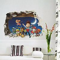 """Интерьерная  наклейка на стену в детскую """"Щенячий патруль""""  (02650), фото 1"""