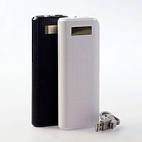 Внешний аккумулятор Power Bank UKC 30800mAh, ЖК-дисплей, USB 2шт + microUSB, зарядный кабель USB в комплектке