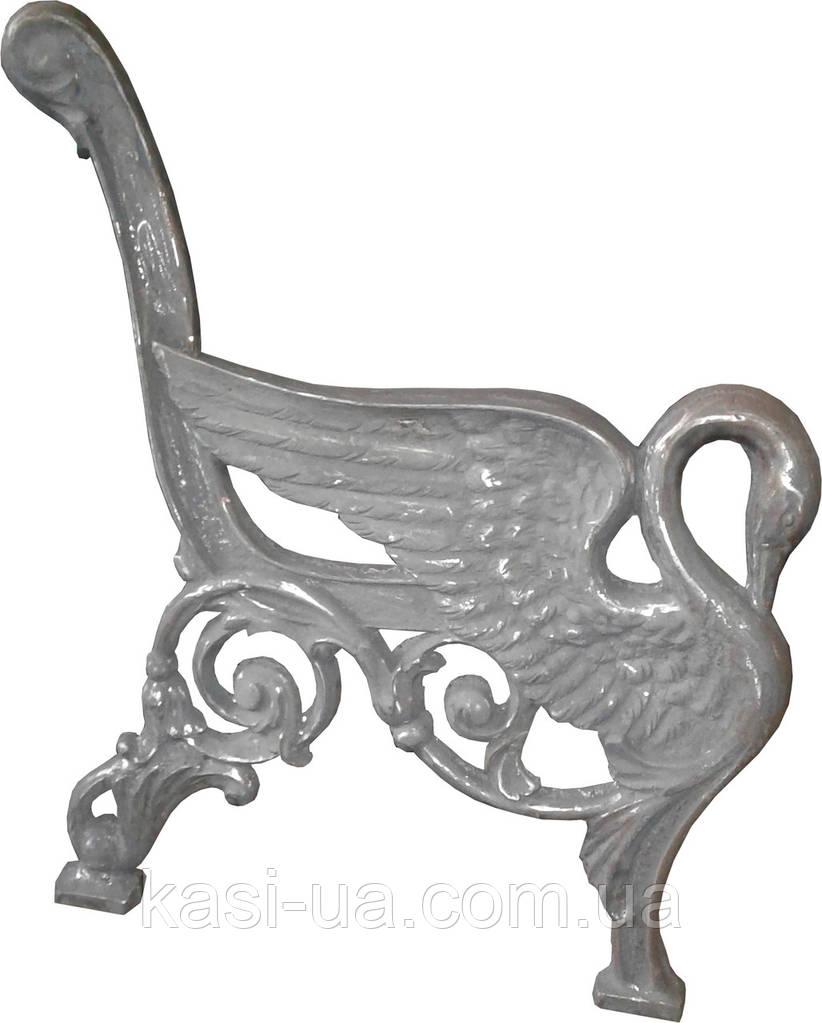 Боковина лавки садово-парковой чугунная c подлокотником № 15 (Лебедь)