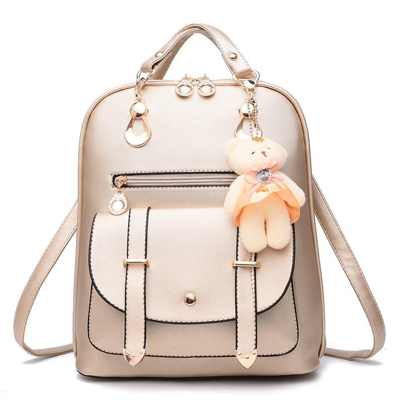 Рюкзак жіночий міський Candy Bear gold