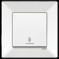 Выключатель 1-кл. проходной с подсветкой Viko Meridian белый