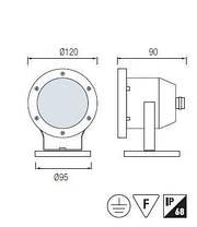 Подводный светильник SL-285L 2.3W 12V 6500К IP68  Код.58794, фото 3
