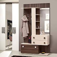 Шкаф вешалка в прихожую Соната, готовая мебель в прихожую 1200*2225*405