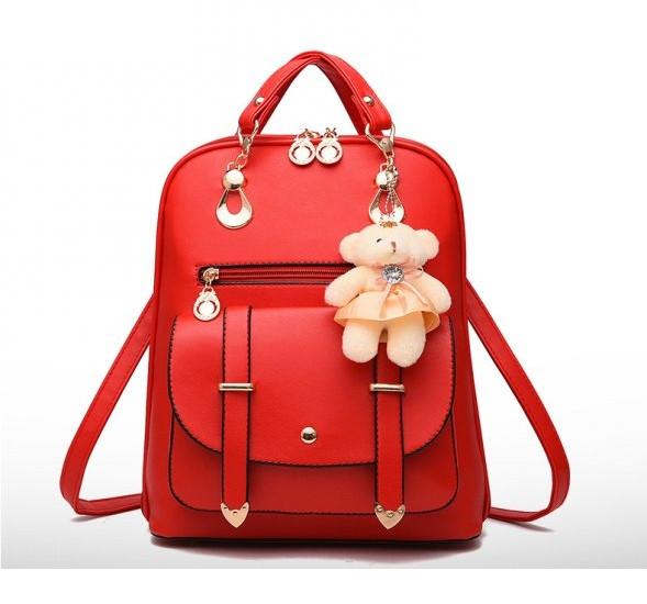 Рюкзак женский городской Candy Bear red