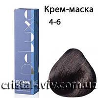 Краска - уход De Luxe 4-6 Шатен фиолетовый
