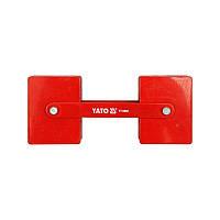 Магнитный фиксатор держатель для сварки YATO регулируемый 85х65х22 мм 2х22,5 кг (YT-0862)