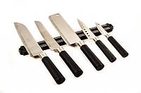 Набор ножей на магнитной планке 6пр Vincent VC-6135