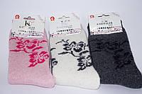 Женские шерстяные турецкие носки с цветочным принтом