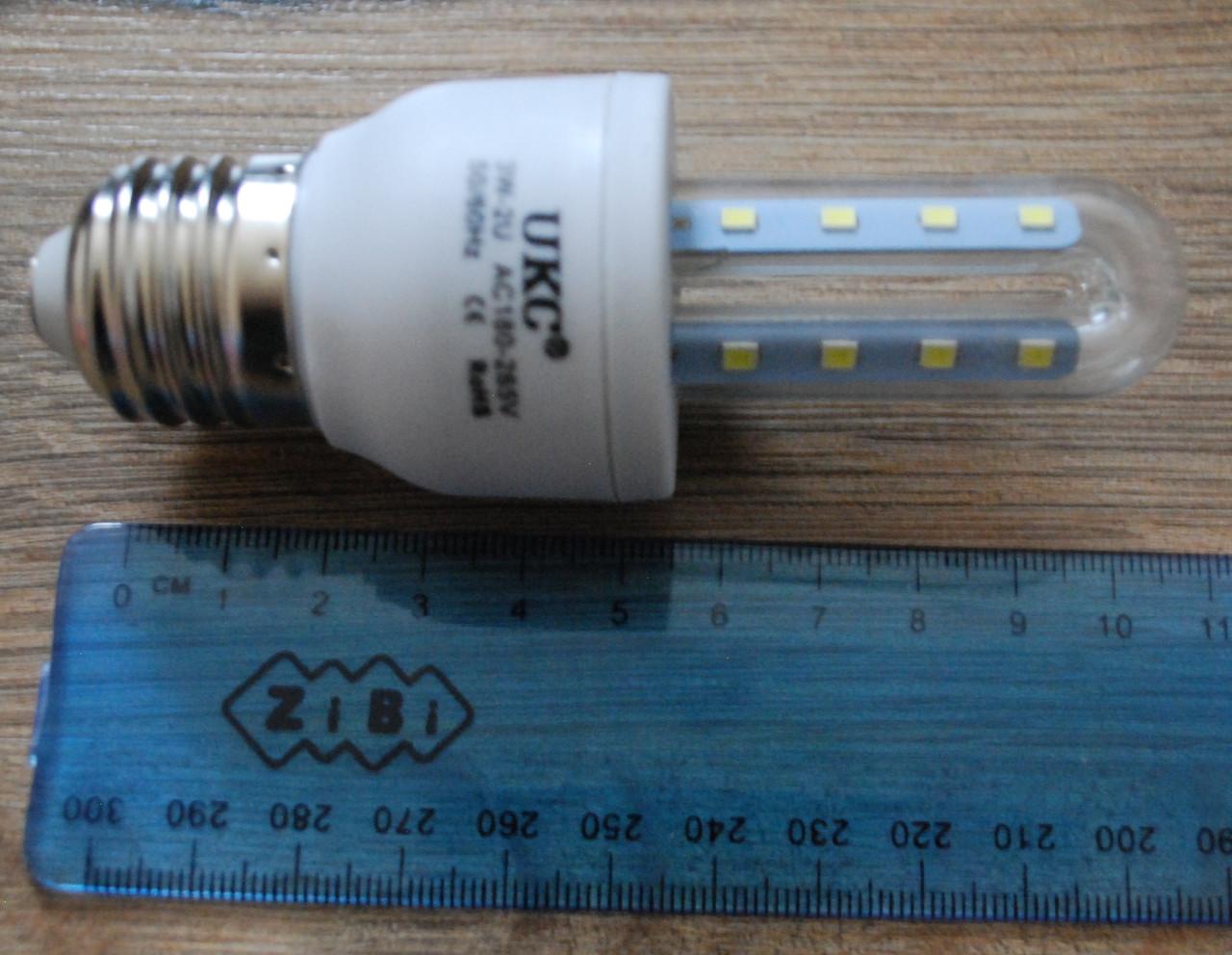 Светодиодная LED лампочка UKC 3W E27 3U 5шт, А295
