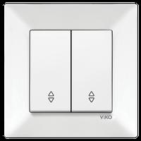 Выключатель 2-кл. проходной Viko Meridian белый