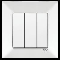 Выключатель 3-кл. Viko Meridian белый