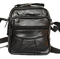 Кожаная мужская сумка барсетка небольшая (8001)