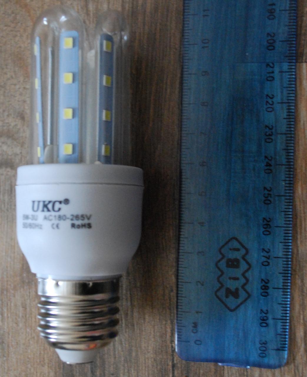 Светодиодная LED лампочка UKC 5W E27 3U 5шт, А296