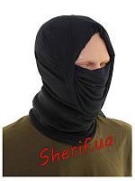 Мультифункциональный головной убор флисовый черный  баф Max Fuchs  Black  10171A