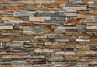 "Фотообои на стену: ""Каменная стена"", 366х254 см, 8 частей"