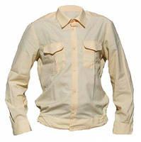 Рубашка форменная длинный рукав бежевая