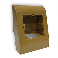 Плинтусная коробка коричневая