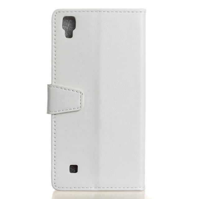 чехол книжка LG X Style гладкая кожа белый