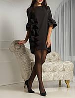 """Нарядное красивое платье """"Черное Варьете"""" до 50-52 размера"""
