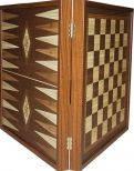 Набор настольных игр 3 в 1: шахматы, шашки, нарды в деревянном футляре 39*39 см STP36E