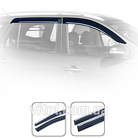 Дефлекторы окон Volkswagen Tiguan 2007+ с хром молдингом