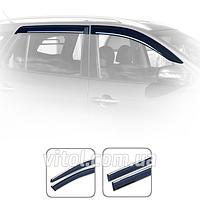 Дефлекторы окон Toyota Highlander 2014+ с хром молдингом