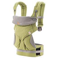 Эрго-рюкзак Four Position Ergobaby 360 Baby Carrier Green в коробке с инструкцией