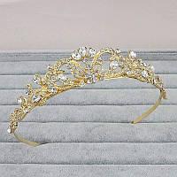 Корона, диадема, тиара в золоте, высота 3,5 см.
