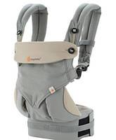Эрго-рюкзак Four Position Ergobaby 360 Baby Carrier Grey в коробке с инструкцией