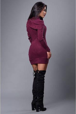 Молодежное платье туника трикотаж резинка, фото 2