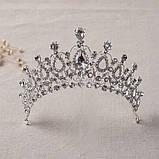 Корона для девочки под золото, высота 6,5 см., фото 6