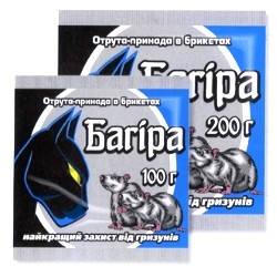 Родентицид Багира парафиновые брикеты (200гр)