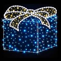 """Світлодіодні прикраси на новий рік """"Подарунок"""" ПРО-25. Світлове прикраса. LED гірлянда., фото 1"""