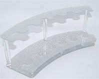 Подставка для расчесок серебро