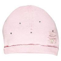 Вязаная Демисезонная Шапка Для Девочки Нежно Розовая Со Стразами BRUMS, Италия