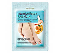 "SKINLITE Интенсивно-восстанавливающая маска-носки для ног ""Абрикос"""