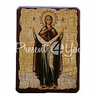 Деревянная икона Икона Покров Пресвятой Богородицы, 17х23 см.