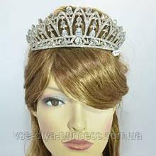 Корона для невесты под серебро, высота 6,5 см.