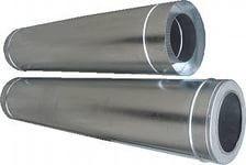 Труба для дымохода оцинкованная утепленная (d 110, 1 метр)