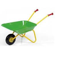 Тачка садовая детская зеленая Rolly Toys 271801