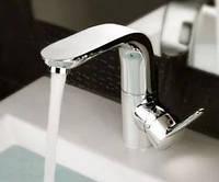 Смеситель кран однорукий в ванную комнату для умывальника