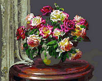 Картина по номерам Mariposa Чайные розы Худ Мортон Анн (MR-Q1001) 40 х 50 см