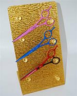 Подставка для ножниц 4 полочки золото