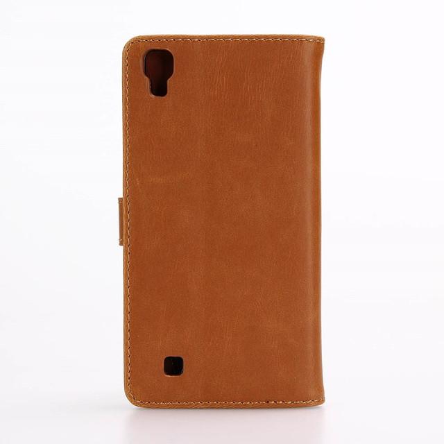 чехол книжка LG X Style ретро стиль коричневый
